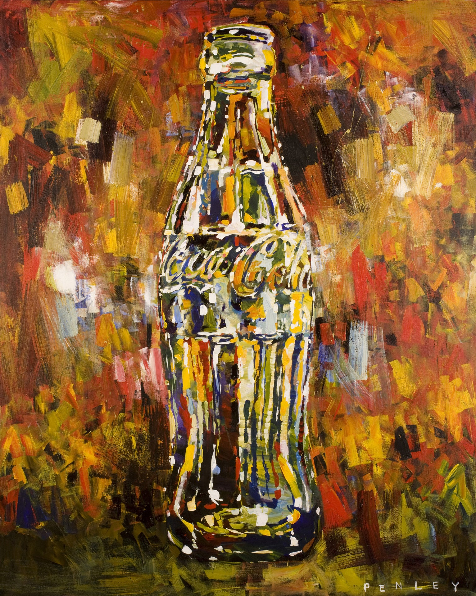 Coke bottle 2 penley art co for Atlanta oil painting artists