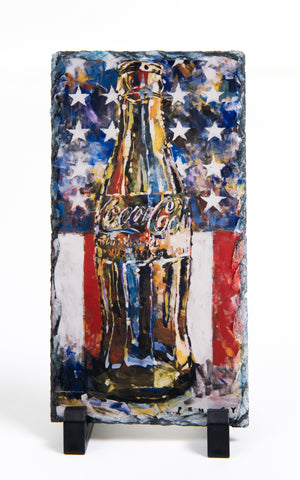 Coca-Cola Bottle on Slate