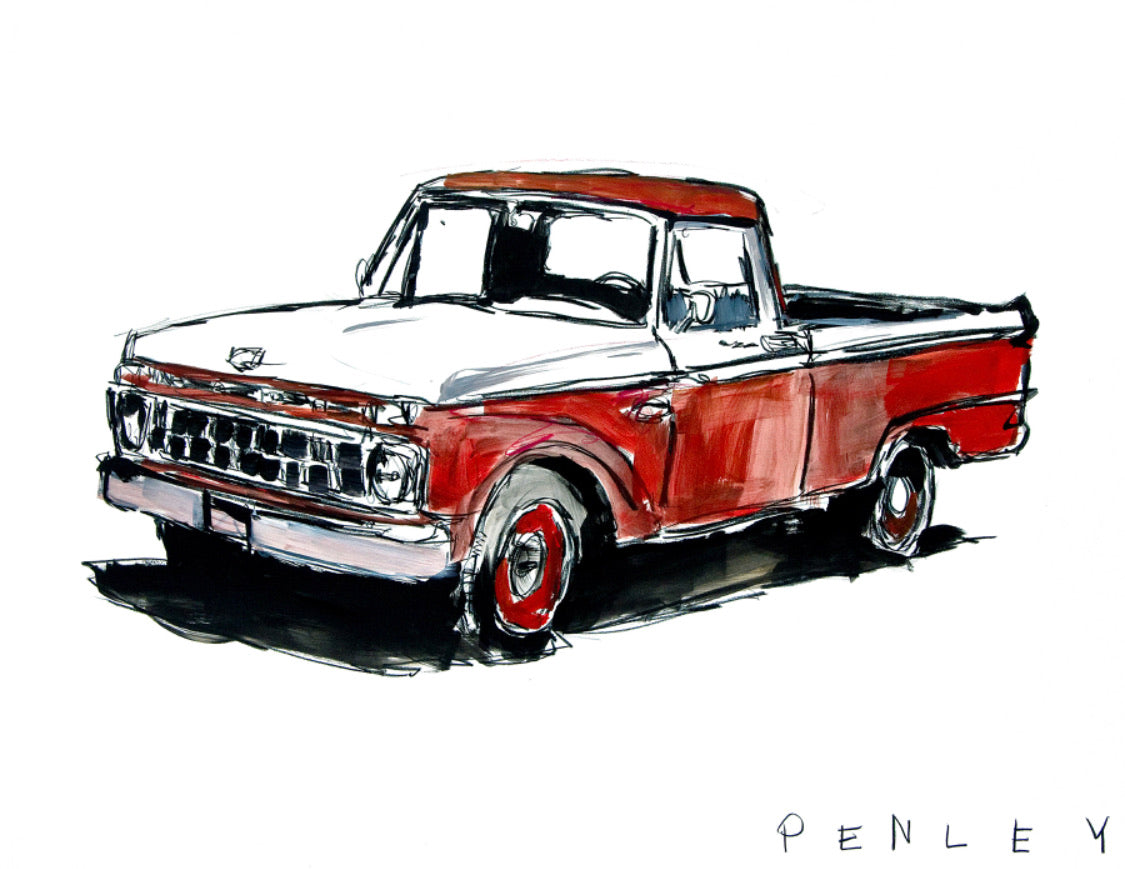 Ford Truck- red