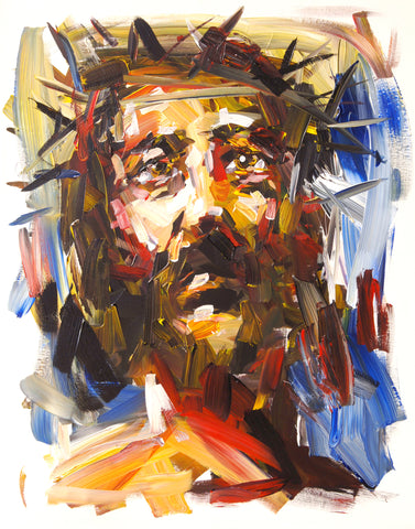 Jesus- blue (print on paper)