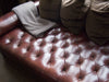 Chesterfield Brown Leather Daybed