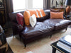 George Smith Leather Loveseat