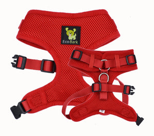 EcoBark Red Comfort-Fit Neck Adjustable Dog Harness