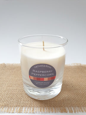 Soy wax candle - Raspberry and Peppercorn