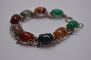 Scottish Silver Agate Bracelet