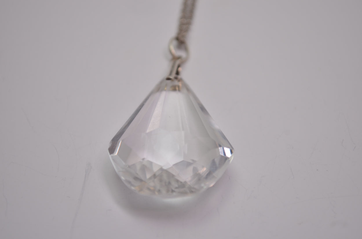 Quartz Crystal Pendant with Chain