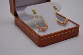 Vintage Gold and Coral Earrings