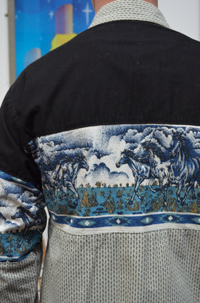 Vintage Western Shirt With Horse Detail - SIZE M