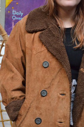 Vintage 70s Sheepskin Coat - SIZE 14
