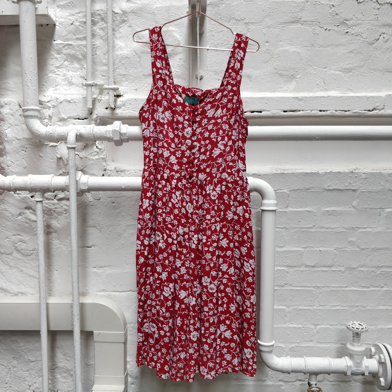 Vintage Red Pattern Dress by Canda