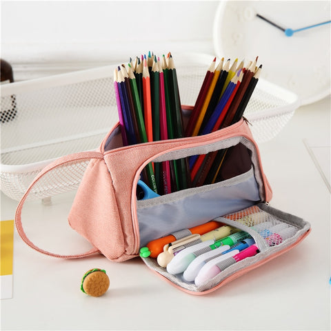 Canvas Pencil Case - Strawberry Notebook
