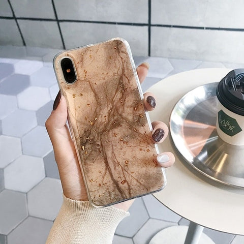Brown Marble iPhone Case