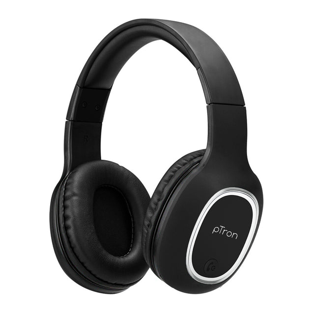 pTron Soundster Lite Over-Ear Bluetooth Headset with High Bass & 12Hrs Playback Time For All Redmi Smartphones - Black