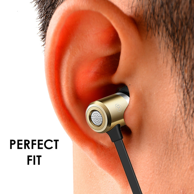 PTron Unison In-Ear Headphone With Noise Cancellation For Moto C Plus (Gold)