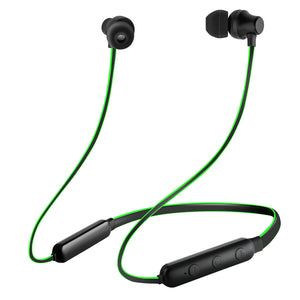 pTron InTunes Lite High Bass In-Ear Wireless Headphones With Mic - (Black/Green)