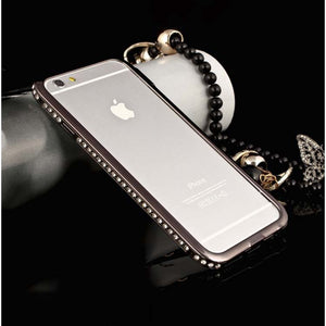 Apple IPhone 5 5S Bling Diamond Bumper Case Black By PTron