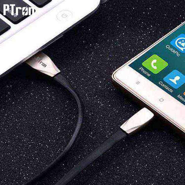 PTron Dual Sided 2 in 1 USB 2.4A High Capacity Sync Charging Cable For All Smartphones