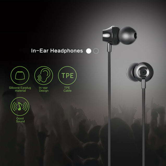 PTron HBE9 Headphone Universal Stereo In Ear Earphone With 3.5mm Jack For All Smartphones (Black)
