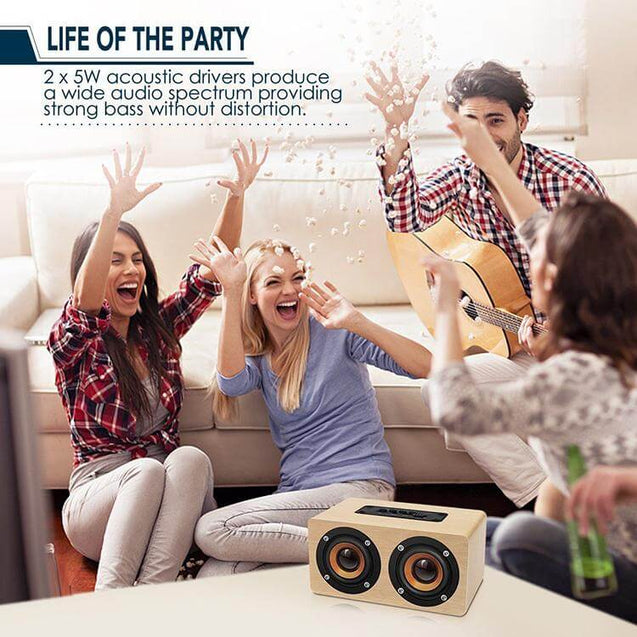 PTron Quinto Wireless Bluetooth Speaker For All Smartphones (Gold)