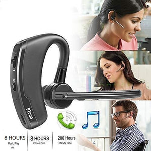 PTron Rover Bluetooth Headset With Voice Control Headphone For Vivo V9 (Black)