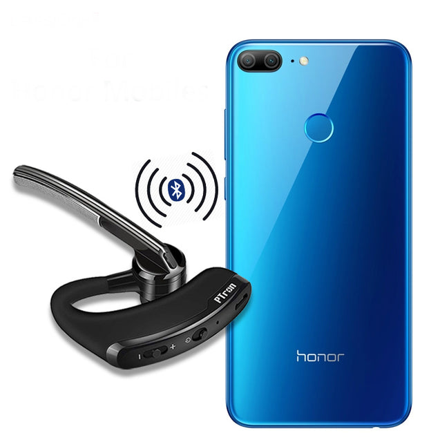 PTron Rover Bluetooth Headset With Voice Control Headphone For Huawei Honor 7X (Black)