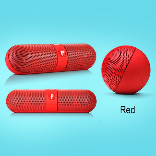PTron Streak Multifunctional Metal Pill Wireless Bluetooth Speaker for All Smartphones (Red)