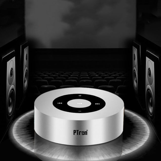 PTron Sonor Bluetooth Speaker New Fashionable Wireless Speaker For All Smartphones (Silver)
