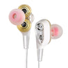 PTron Boom 4D Earphone Deep Bass Stereo Sport Wired Headphone For All Smartphones (White/Silver)