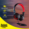 Best Combo Offer PTron Mamba Stereo Wired Headphone Black/Red & PTron Unison In-Ear Headphone & 2 In 1 USB To Micro USB Data Cable Blue/Gray
