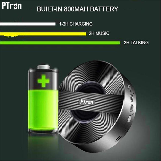 PTron Musicbot Bluetooth Speaker Portable Wireless Speaker Support TF, USB For Xiaomi MIA2 (Black)
