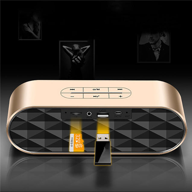 PTron Mojo Mini Bluetooth Speaker With Dual Speaker Support TF, USB For All Smartphones