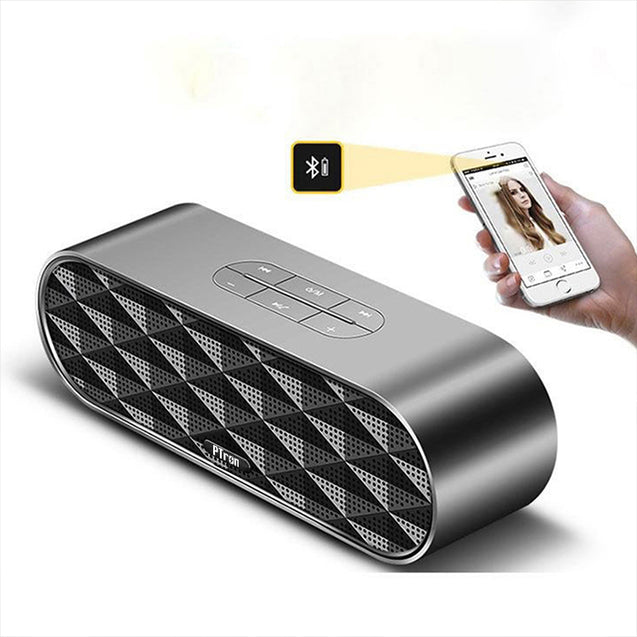 PTron Mojo Mini Bluetooth Speaker With Dual Speaker Support TF, USB, For All Smartphones