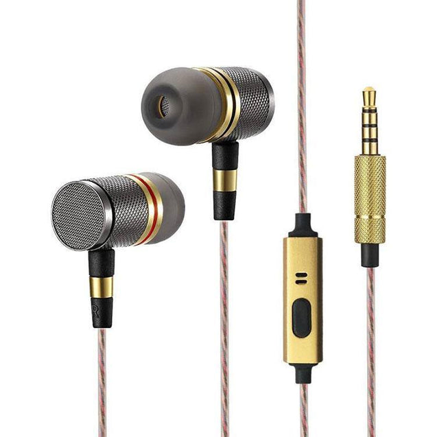 PTron Aristo In-ear Headphone with Noise Cancellation for Moto G5s Plus (Gold)