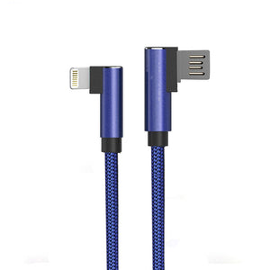 PTron Solero USB Lightning Cable - L Shape Design Sync Data Cable Charger For iOS Smartphones (Blue)