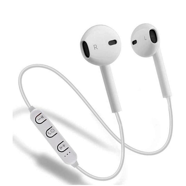 PTron Avento In-Ear Bluetooth Headphones With Mic For All Oneplus Smartphones (White)