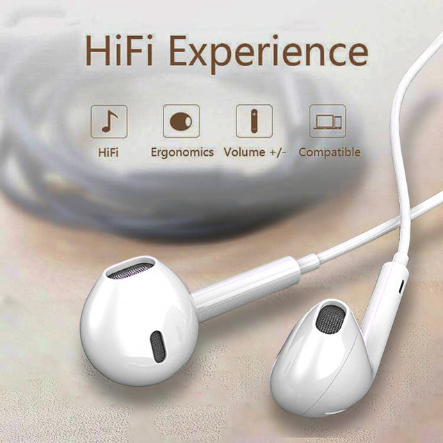 PTron Avento Bluetooth Headphones In-Ear Wireless Headset For All Smartphones (White)