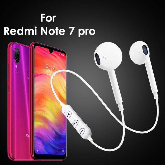 PTron Avento Bluetooth Headphones In-Ear Wireless Headset For Xiaomi Redmi Note 7 Pro (White)