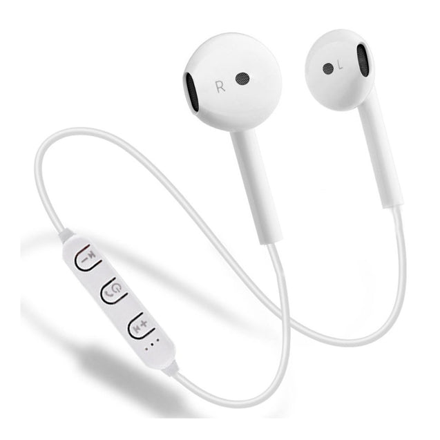 PTron Avento Bluetooth Headphones In-Ear Wireless Headset For Poco F1 (White)
