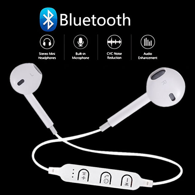 PTron Avento Bluetooth Headphones In-Ear Wireless Headset For All Vivo Smartphones (White)