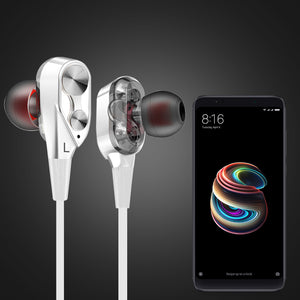 PTron Boom 2 4D Earphone Deep Bass Stereo Sport Headphone For All Xiaomi Smart Phones White/Silver
