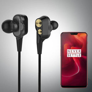 PTron Boom Evo 4D Earphone Deep Bass Stereo Sport Wired Headphone For OnePlus 6T (Black/Gold)