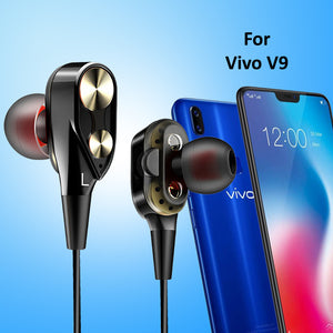 PTron Boom Evo 4D Earphone Deep Bass Stereo Sport Wired Headphone For Vivo V9 (Black/Gold)