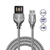 PTron Falcon Pro 2.1A USB To Micro USB Data Cable For Android Smartphones (Black)