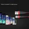 PTron Gravita 2A USB To Lightning USB Cable Charging Cable For All IOS Smartphones Red