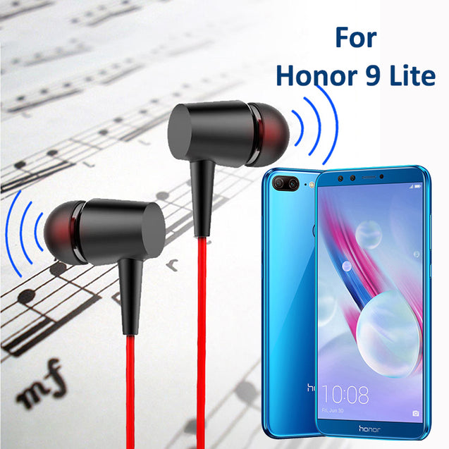 PTron Alpha In-Ear Headset With Noise Cancellation And 3.5mm Jack For Huawei Honor 9 Lite (Black/Red)