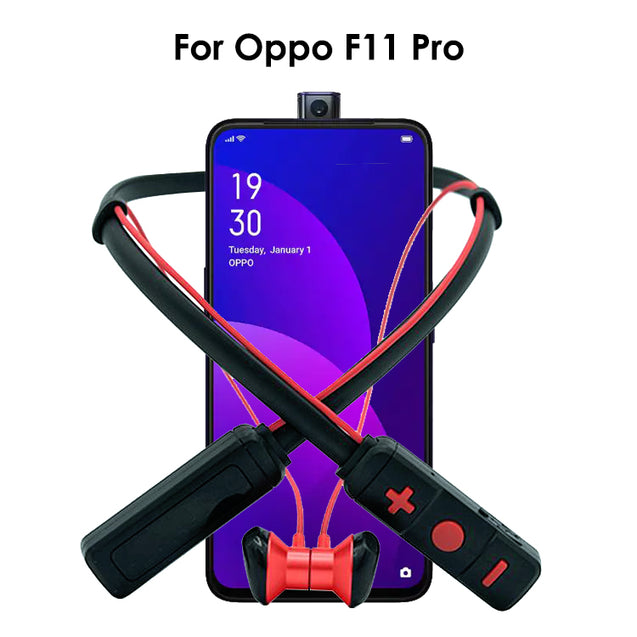 PTron Tangent Pro Bluetooth Headset Stereo Wireless Headphone For Oppo F11 Pro (Red/Black)