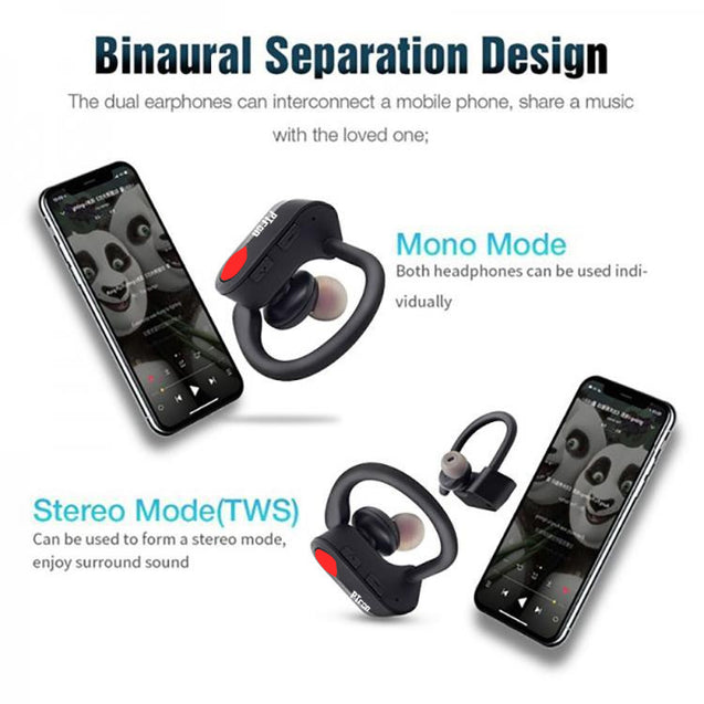 PTron Twins Pro True wireless In-Ear Bluetooth TWS Headset With Mic For All Smartphones (Black)