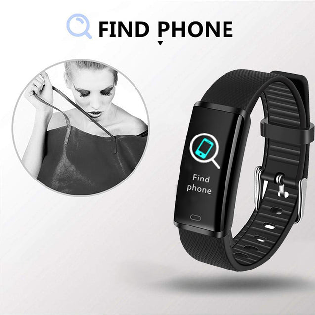 PTron Pulse Fitness Activity Tracker Watch Band With Heart Rate For All Smartphones (Black)