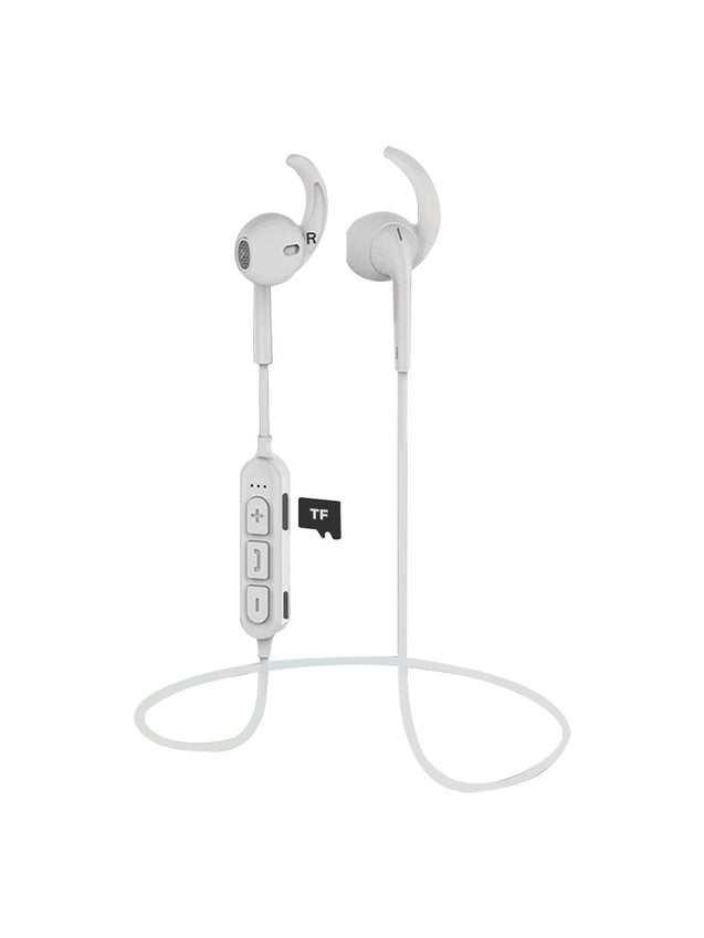 Refurbished - pTron Avento Pro Bluetooth 5.0 Headphones with TF Slot for All Smartphones - (White)