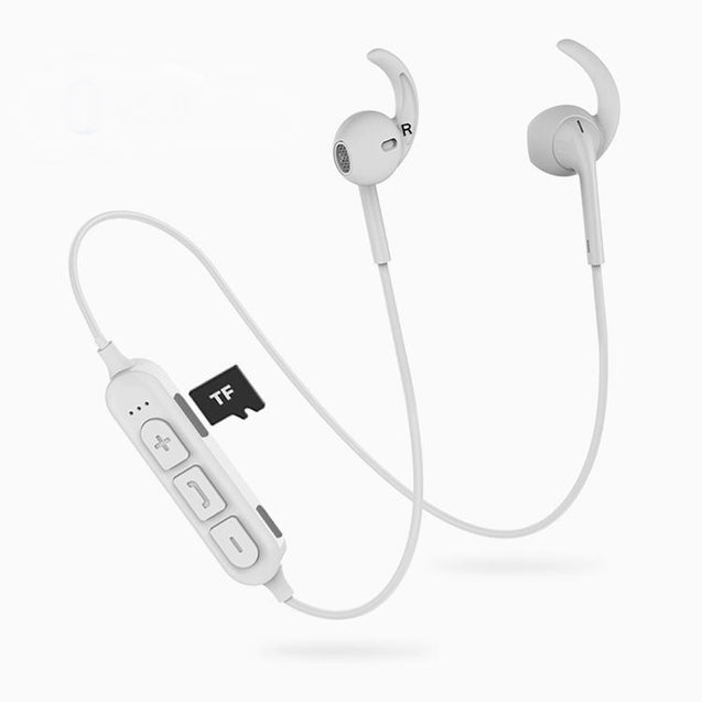 PTron Avento Pro Bluetooth 5.0 Stereo Bluetooth Headphones With TF Slot For Vivo S1 (White)